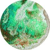 Illustration brown green stone texture round background