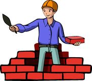 Illustration of a builder Royalty Free Stock Photo