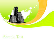 Illustration with buildings. Vector Stock Photography