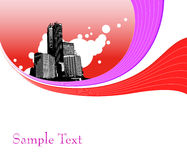 Illustration with buildings. Vector Stock Photos