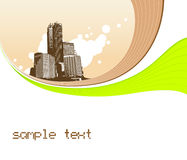 Illustration with buildings. Vector Royalty Free Stock Images