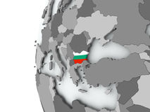 Bulgaria on globe with flag. Illustration of Bulgaria on political globe with embedded flag. 3D illustration Stock Photos