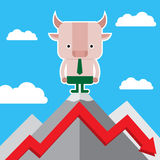 Illustration of bull symbol of stock market trend. Stock Images