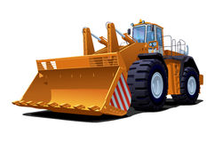 Illustration of bulldozer Stock Image