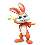 Illustration of Bunny with carrot. 3d rendered illustration of Bunny with carrot Stock Image