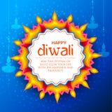 Burning diya on happy Diwali Holiday background for light festival of India. Illustration of burning diya on happy Diwali Holiday background for light festival