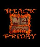 Black Friday day. Illustration burning wooden calendar with black Friday day 2017 Royalty Free Stock Photos