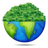 Bush on the earth. Illustration of bush on the earth Stock Photo