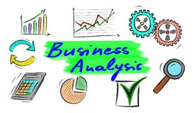 Concept of business analysis. Illustration of a business analysis concept Royalty Free Stock Photo