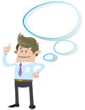 Business Buddy with Thought Bubble. Illustration of Business Buddy has plenty of space to imagine something in his giant thought bubble Royalty Free Stock Image