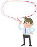 Business Buddy with Speech Bubble Royalty Free Stock Images