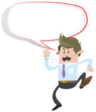Business Buddy shouting with Speech Bubble Royalty Free Stock Photo