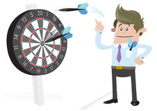 Business Buddy Hits a Bullseye. Stock Photo