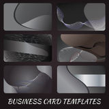 Black business-card-templates Royalty Free Stock Images