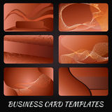 Orange business-card-templates Stock Images