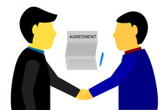 Illustration for business contract agreement Royalty Free Stock Photos