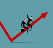Illustration of business growth Stock Photos