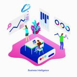 Illustration Business Intelligence royalty free illustration
