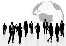 Illustration of business men and women Stock Photos