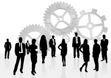 Illustration of business men and women Stock Photo