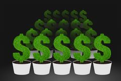 Illustration of Business Money Concept Stock Images