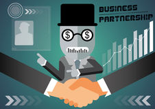 A  illustration of business partnership Stock Photography