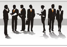Illustration of business peopl Royalty Free Stock Images