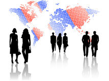 Illustration of business people Royalty Free Stock Images