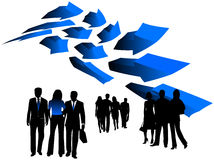 Illustration of business people Stock Photography