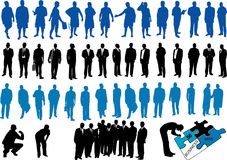 Illustration of business people Stock Photos