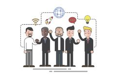 Illustration of business people communicating Royalty Free Stock Images