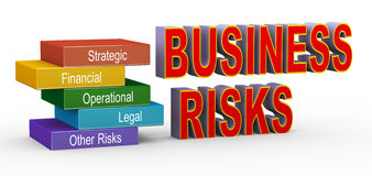 Illustration of business risks management Stock Images