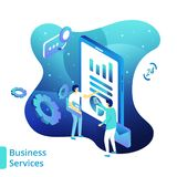 Illustration Business Services royalty free illustration