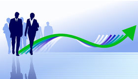 Illustration of a business team. Working on economic recovery Stock Images