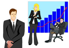 Illustration of business team smiling and relax Stock Image