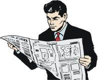 Illustration of a businessman, Stock Images