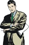 Illustration of a businessman, Royalty Free Stock Photo