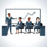 Illustration Of Businessman Addressing Board Meeting Royalty Free Stock Image