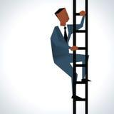 Illustration Of Businessman Climbing Ladder vector illustration
