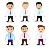 Illustration of Businessman Collection Royalty Free Stock Photography