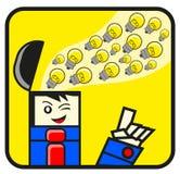 Illustration of businessman get idea Royalty Free Stock Photography