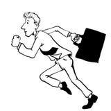 Illustration of Businessman running-Vector Hand drawn Royalty Free Stock Photo