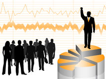 Illustration of businesspeople Royalty Free Stock Photos