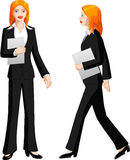 Illustration of businesswoman Royalty Free Stock Photo