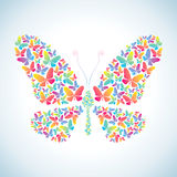 Illustration of butterflies Royalty Free Stock Photos