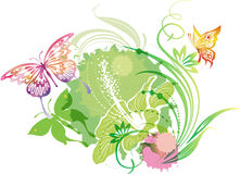 Illustration with a butterflies Royalty Free Stock Photo