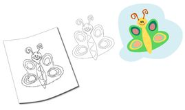 Illustration: butterfly Royalty Free Stock Images