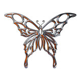 Illustration of a butterfly. Realized in chrome Royalty Free Stock Photo