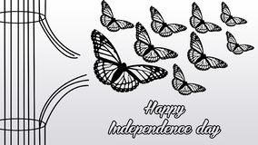 Illustration butterfly fly for simbol independence. Illustration butterfly realistic, this illustration for desain and photo manipulation, this image for symbol royalty free illustration