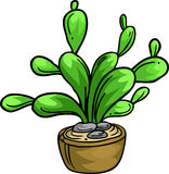 Illustration cactus. On white background Royalty Free Stock Image